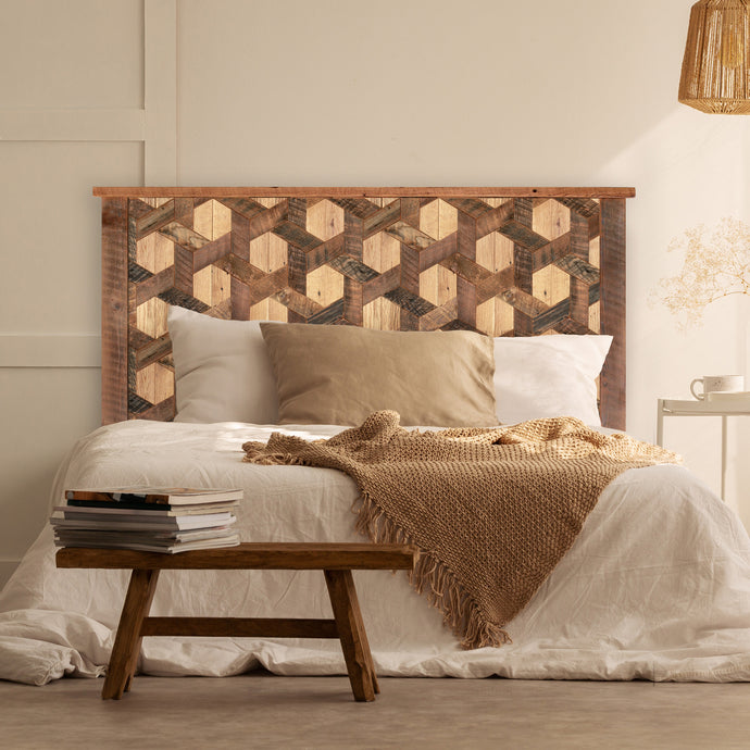 Hexagon Pattern Headboard - Multiple Sizes