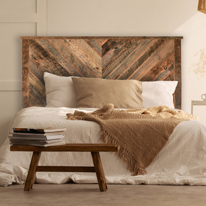 Herringbone Reclaimed Wood Headboard - Multiple Sizes