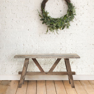 Rustic Bench Made From Reclaimed Wood