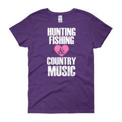 Women's Hunting, Fishing & Country Music T-Shirt