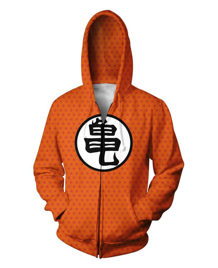 Dragon Ball 3D Zip-Up Hoodie