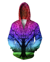 Tree Of Life 3D Zip-Up Hoodie