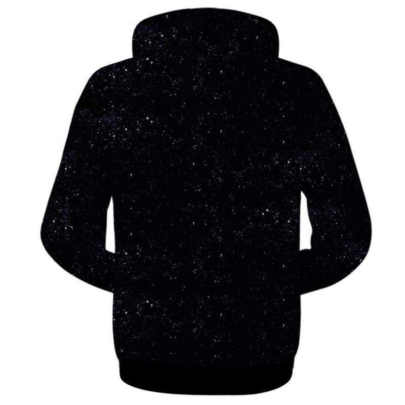 Rainbow Galaxy 3D Zip-Up Hoodie