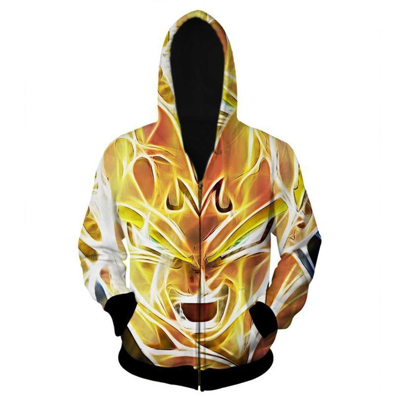 Super Saiyan 3D Zip-Up Hoodie