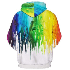 Dripping Paint 3D Hoodie