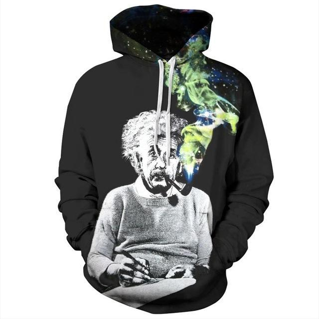 Einstein Pipe Dream 3D Hoodie