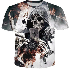 Ace of Diamonds Reaper 3D T-Shirt