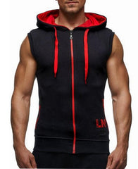 Men's Sleeveless Gym Hoodie
