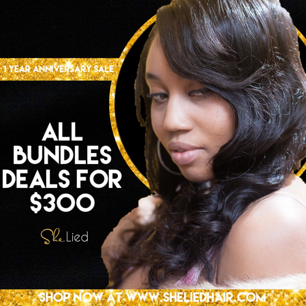 Bluffin' Brazilian Bouncy drop curl Bundle deal