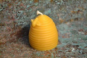 Bee skep candle 2""
