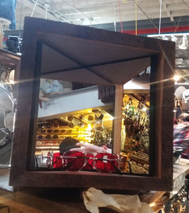 12x12 Barn Wood  True Mirror