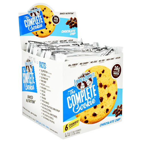 Lenny & Larrys All-Natural Complete Cookie - Chocolate Chip - 6 ea - 787692837618