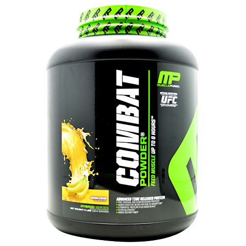 MusclePharm Hybrid Series Combat Powder - Banana Cream - 4 lb - 705105703961