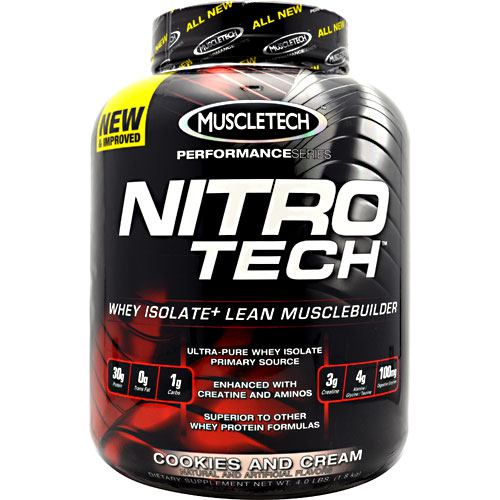 Muscletech Performance Series Nitro-Tech - Cookies and Cream - 4 lb - 631656703313