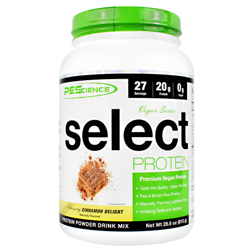 PEScience Vegan Series Select Protein - Amazing Cinnamon Delight - 27 Servings - 040232661457