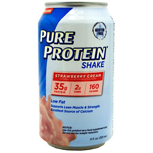 Pure Protein Pure Protein Shake - Strawberry Cream - 12 Cans - 00749826130729