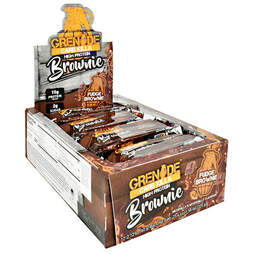 Grenade Carb Killa - Fudge Brownie - 12 Bars - 847534003509
