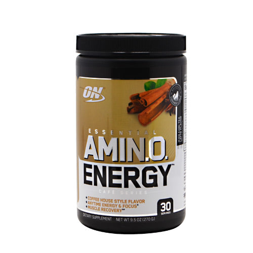 Optimum Nutrition Cafe Series Essential Amino Energy - Iced Chai Tea Latte - 30 Servings - 748927054170