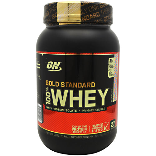 Optimum Nutrition Gold Standard 100% Whey - Birthday Cake - 2 lb - 748927055016