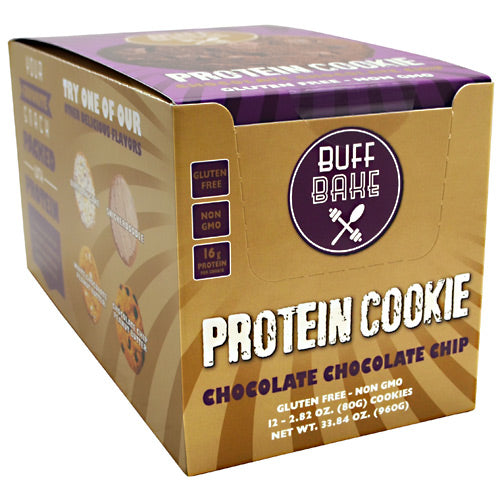 Buff Bake Protein Cookie - Chocolate Chocolate Chip - 12 ea - 857697005241