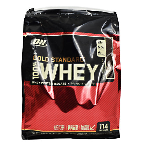 Optimum Nutrition Gold Standard 100% Whey - Double Rich Chocolate - 114 Servings - 748927057089