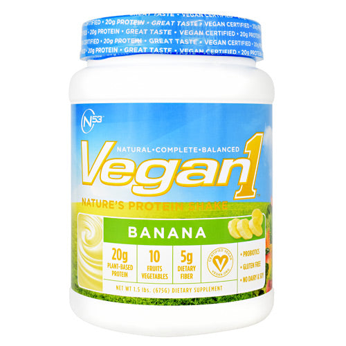 Nutrition 53 Vegan1 - Banana - 15 Servings - 810033011566