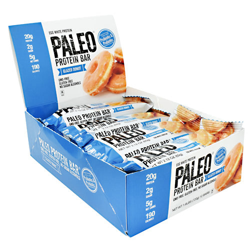 Julian Bakery Paleo Protein Bar - Glazed Donut - 12 Bars - 813926002849