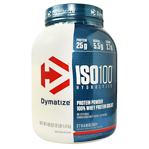 Dymatize ISO100 - Strawberry - 3 lb - 705016353118