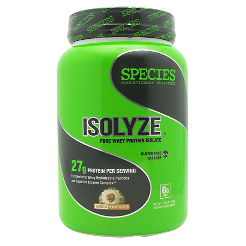 Species Nutrition Isolyze - Vanilla Peanut Butter - 22 Servings - 855438005697