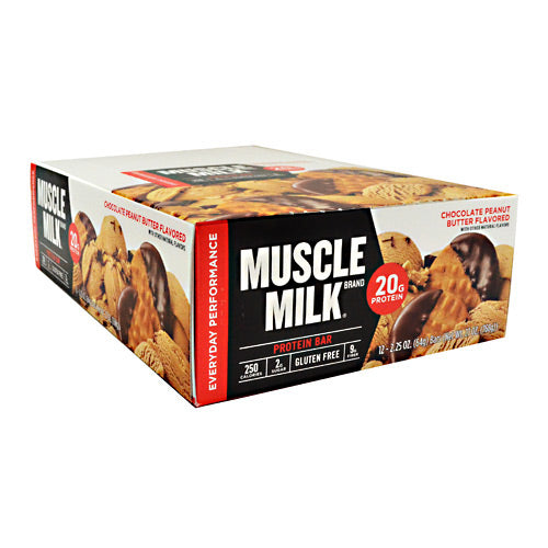 Cytosport Red Muscle Milk Bar - Chocolate Peanut Butter - 12 Bars - 660726525128