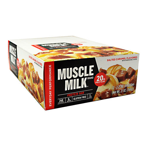 Cytosport Red Muscle Milk Bar - Salted Caramel - 12 Bars - 660726525104