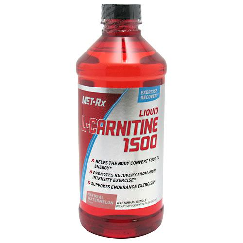 Met-Rx USA Liquid L-Carnitine 1500 - Natural Watermelon - 16 oz - 786560362252