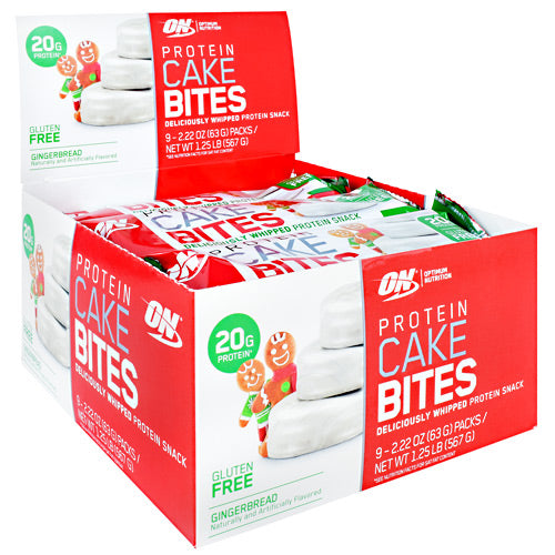 Optimum Nutrition Cake Bites - Gingerbread - 12 ea - 748927960648