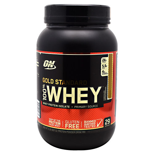 Optimum Nutrition Gold Standard 100% Whey - Chocolate Dipped Banana - 2 lb - 748927054675