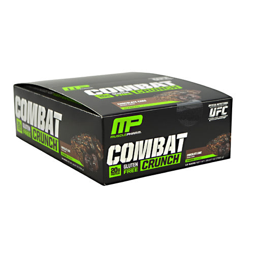MusclePharm Hybrid Series Combat Crunch - Chocolate Cake - 12 Bars - 019962526329