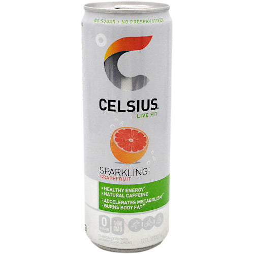 Celsius Natural Celsius - Sparkling Grapefruit - 24 Cans - 852481007180