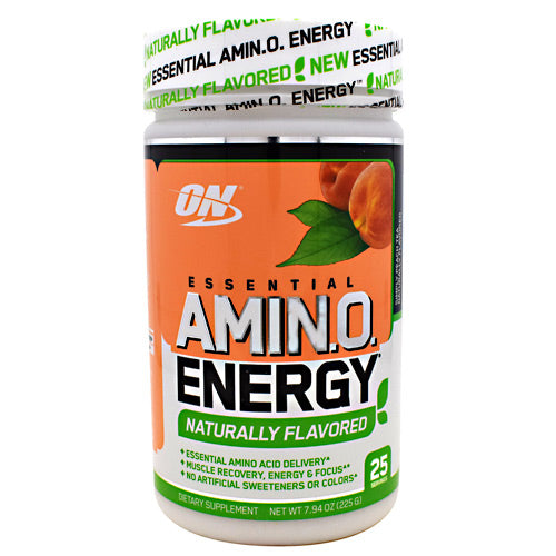 Optimum Nutrition Free Essential Amino Energy - Simply Peach Tea - 25 Servings - 748927056112