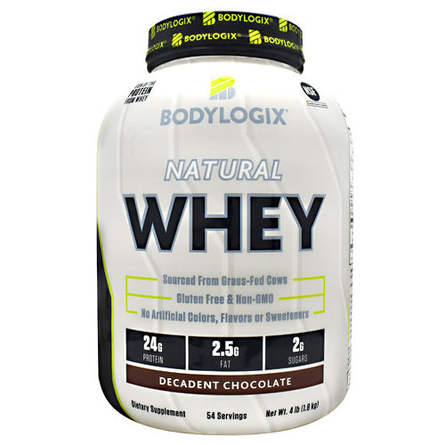 BodyLogix Natural Whey Protein - Decadent Chocolate - 4 lbs - 694422031423