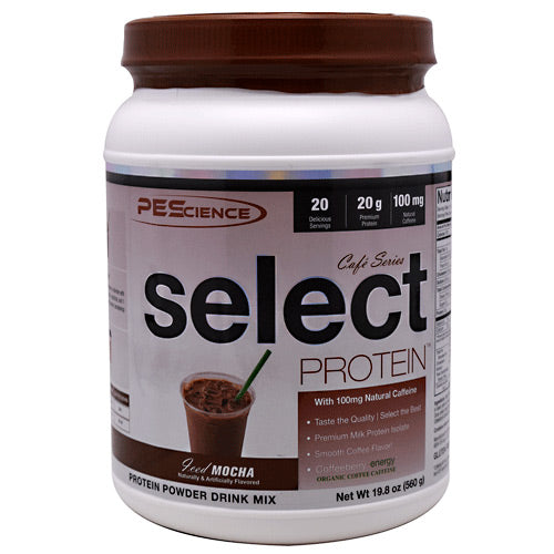 PEScience Cafe Series Select Protein - Iced Mocha - 20 Servings - 040232426162