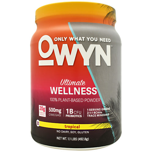 Only What You Need Plant Protein - Tropical - 14 Servings - 857335004605
