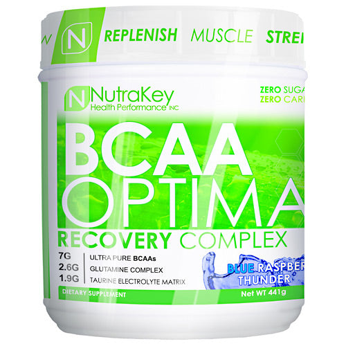 Nutrakey BCAA Optima - Blue Raspberry Thunder - 30 Servings - 851090006010
