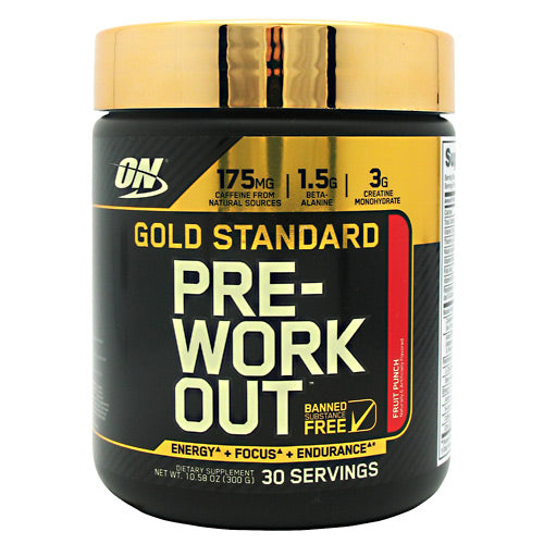 Optimum Nutrition Gold Standard Pre-Workout - Fruit Punch - 30 Servings - 748927052695