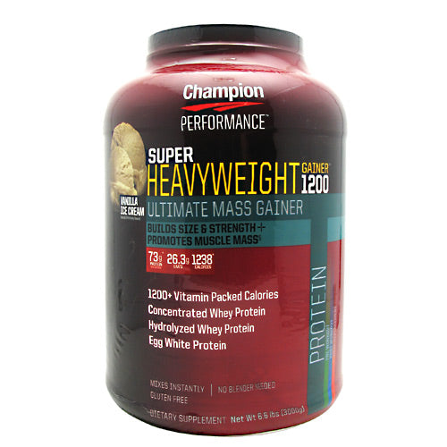 Champion Nutrition Super Heavyweight Gainer 1200 - Double Vanilla Cream Shake - 6.6 lb - 027692120908