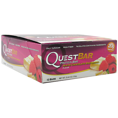 Quest Nutrition Quest Protein Bar - White Chocolate Raspberry - 12 Bars - 888849000227