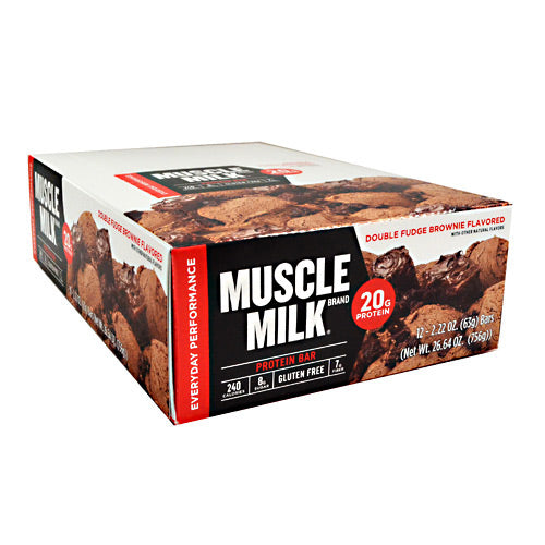Cytosport Red Muscle Milk Bar - Double Fudge Brownie - 12 Bars - 660726525135