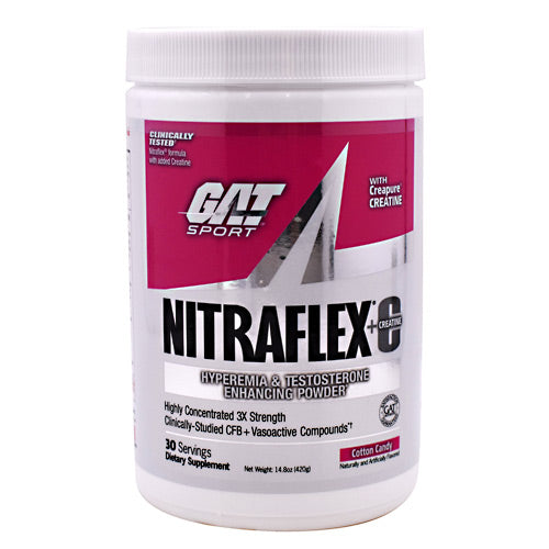 GAT Nitraflex - Cotton Candy - 30 Servings - 816170021475