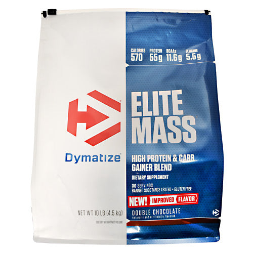 Dymatize Elite Mass - Double Chocolate - 10 lb - 705016338498