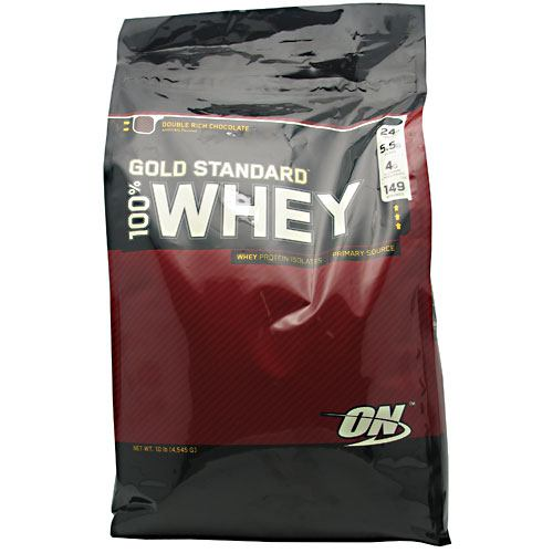Optimum Nutrition Gold Standard 100% Whey - Double Rich Chocolate - 10 lb - 748927028713