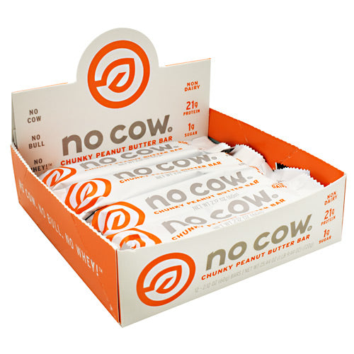 Ds Naturals No Cow Bar - Chunky Peanut Butter - 12 Bars - 852346005108