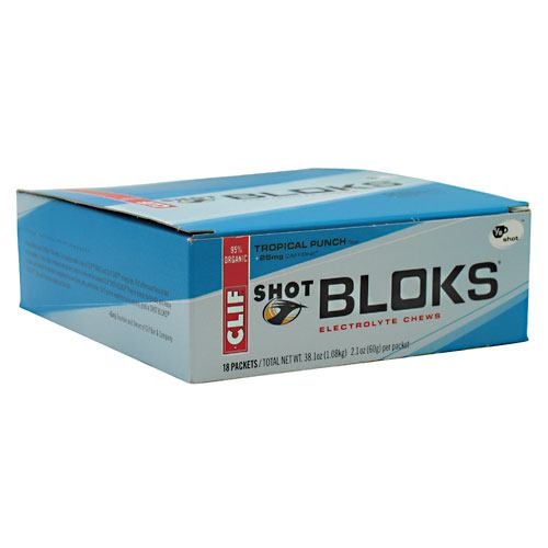 Clif Bar Shot Bloks Electrolyte Chews - Tropical Punch - 18 ea - 722252380692